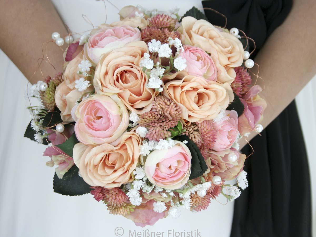 Brautstrauss Fur Die Ewigkeit Apricot Romantik Meissner Floristik