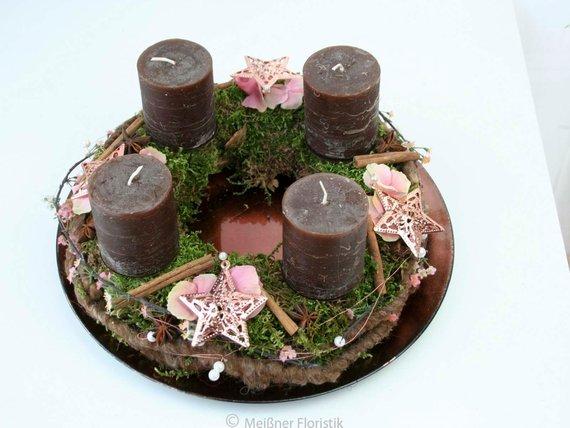 adventskranz kupfer stern meissner floristik. Black Bedroom Furniture Sets. Home Design Ideas