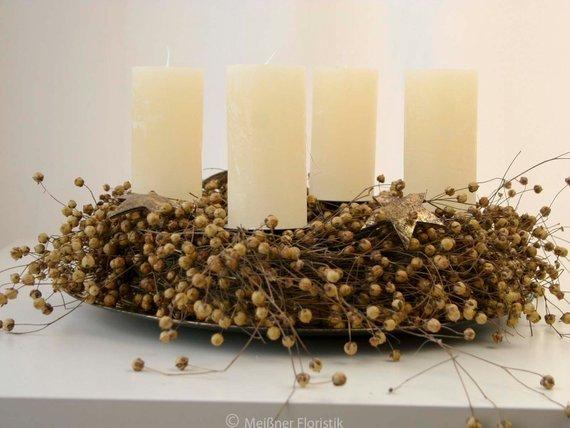 adventskranz nat rlicher advent meissner floristik. Black Bedroom Furniture Sets. Home Design Ideas